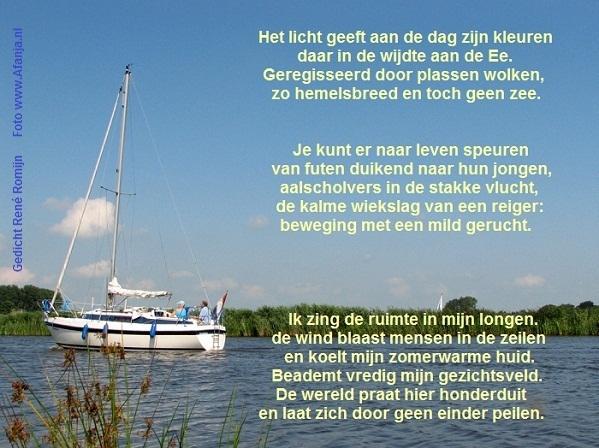 WIJDE EE (gedicht van René Romijn) – Fan van Friesland