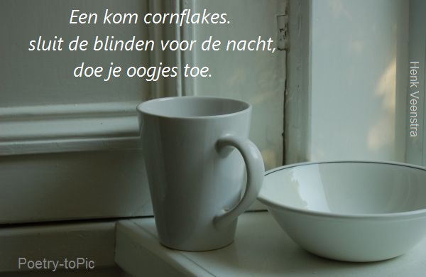 Friesland-MAIL+ Poëzie. Een kom cornflakes.