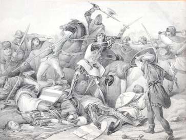 Slag bij Warns. Graaf Willen IV sneuvelt