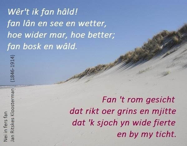Friesland-MAIL+Poëzie: Jan Ritskes Kloosterman.