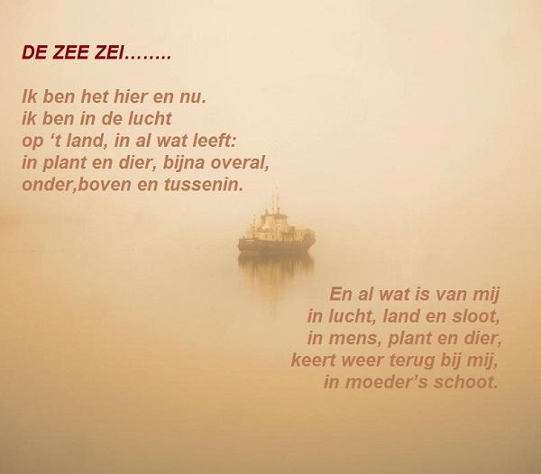 En de zee zei....