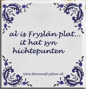Fryslân is plat.